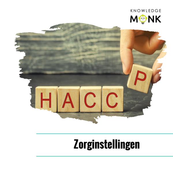 HACCP cursus, HACCP in de zorg